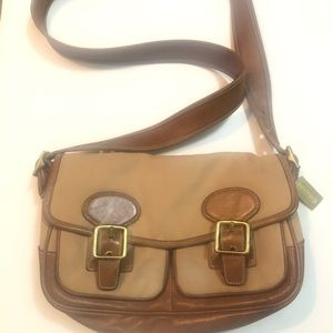 Coach remade vintage tan and brown crossbody bag